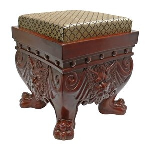 The Greenman Ottoman by Design Toscano