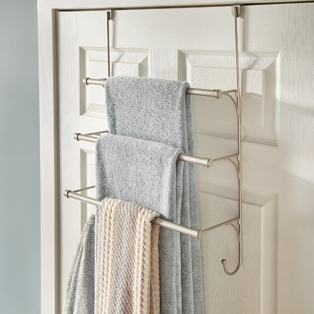 Franklin brass over the door towel rack reviews wayfair for Door towel racks for bathrooms
