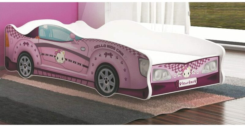 relita autobett turbo kids car mit lattenrost 80 x 160 cm. Black Bedroom Furniture Sets. Home Design Ideas
