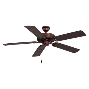 Outdoor ceiling fans youll love wayfair allie 52 outdoor 5 blade ceiling fan mozeypictures Image collections