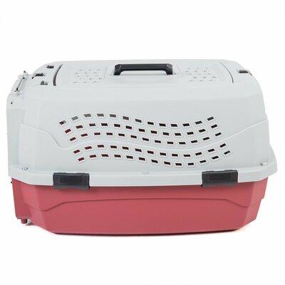 2 Door Top Load Car Travel Vet Visit Pet Carrier Favorite Color: Red/gray