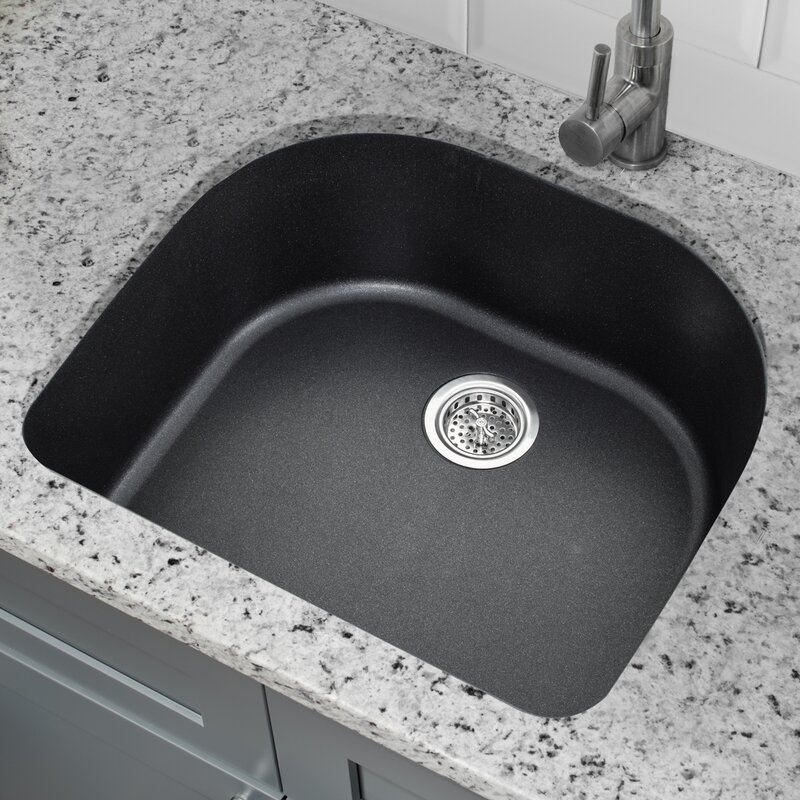 25   x 22   quartz single bowl kitchen sink soleil 25   x 22   quartz single bowl kitchen sink  u0026 reviews   wayfair  rh   wayfair com
