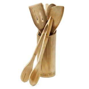 7 Piece Bamboo Kitchen Utensils Set