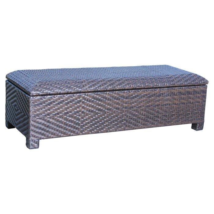 Amazing Casarano Wicker Storage Bench
