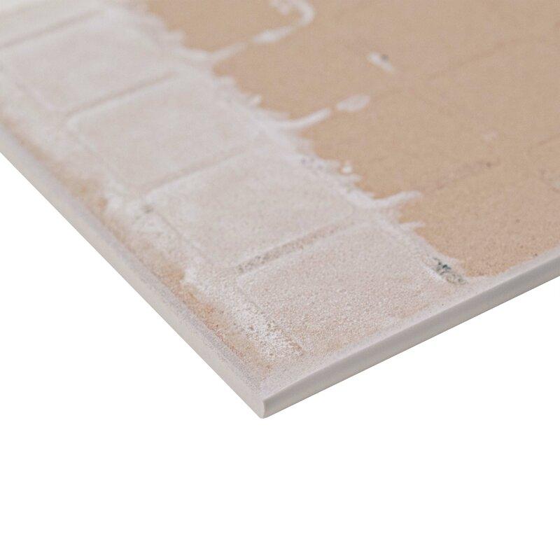Elitetile Revive 35 X 775 Ceramic Bullnose Trim Tile In White