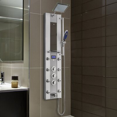 AKDY Thermostatic Tower Rainfall Shower Panel - Includes Rough-In Valve