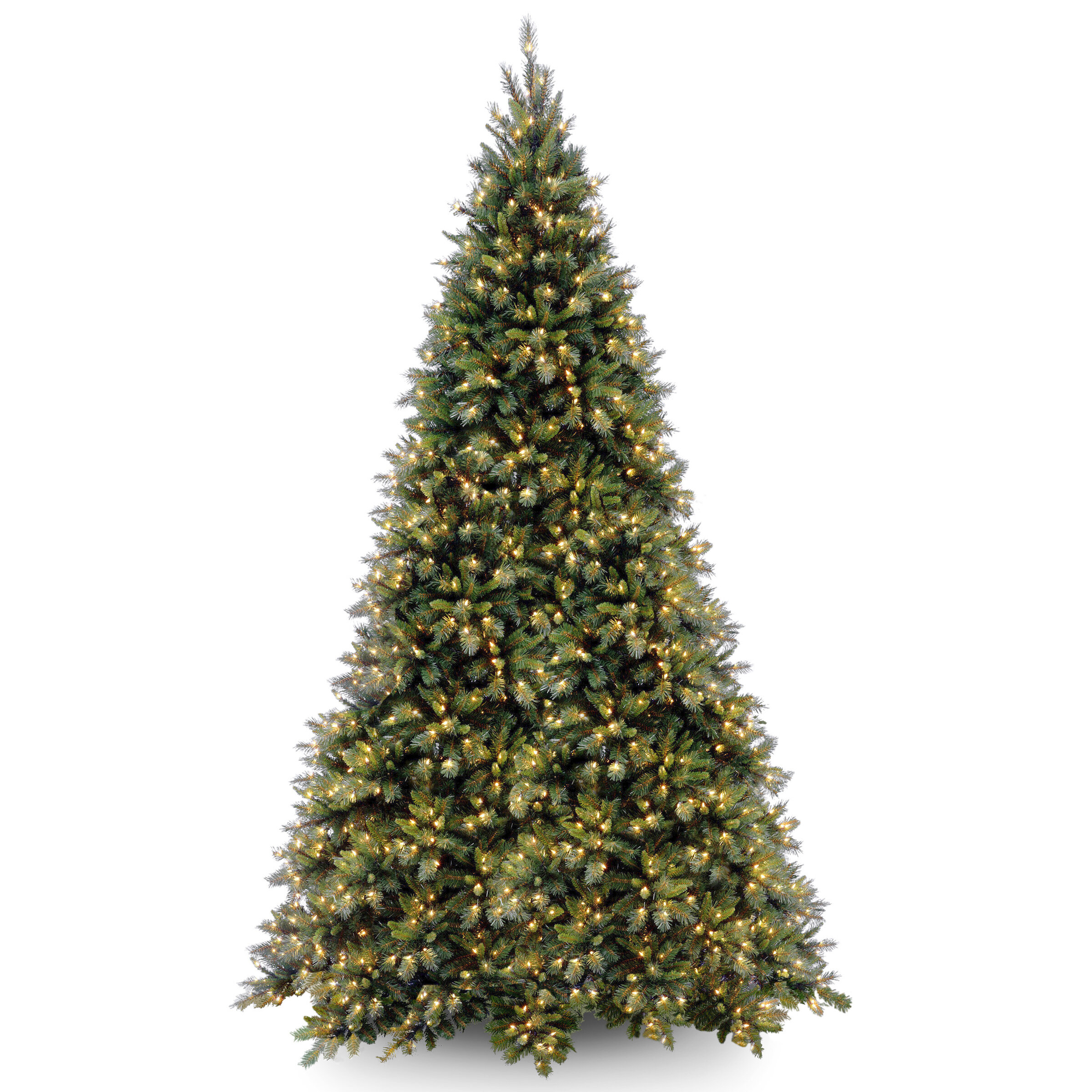 Tiffany Fir 12' Green Artificial Christmas Tree with 1400 Clear Lights and Stand & Reviews | Joss & Main