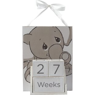 Elephant Nursery Baby Age Photo Prop Letter Block
