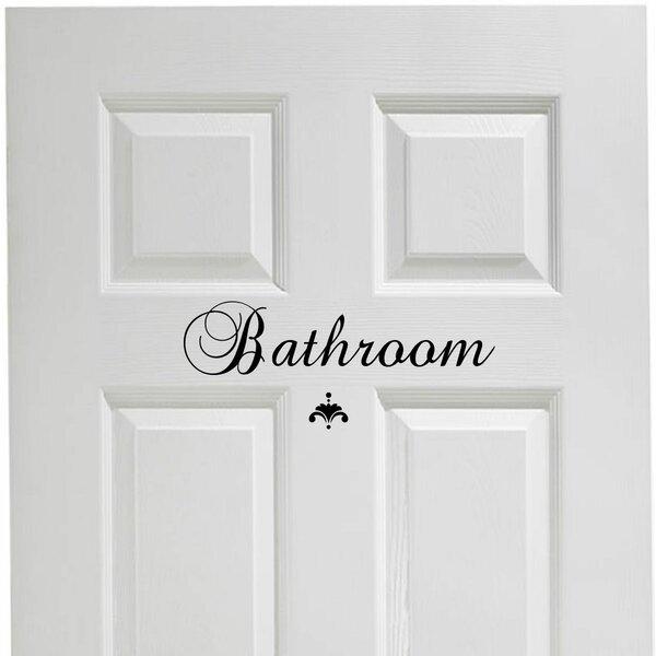 . Bathroom Door Decals   Wayfair