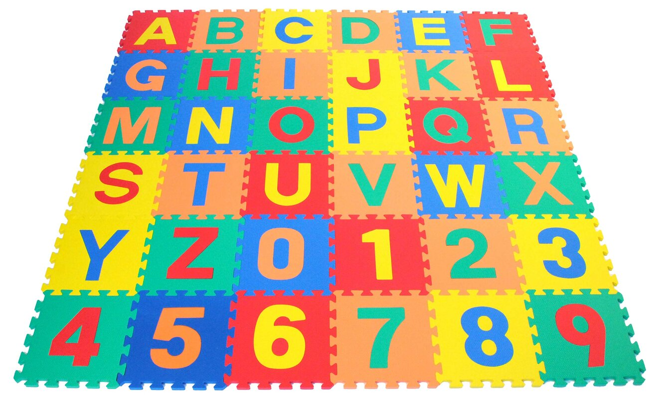 Ewonderworld alphabet letter and counting numbers soft foam alphabet letter and counting numbers soft foam learning waterproof playmat dailygadgetfo Images