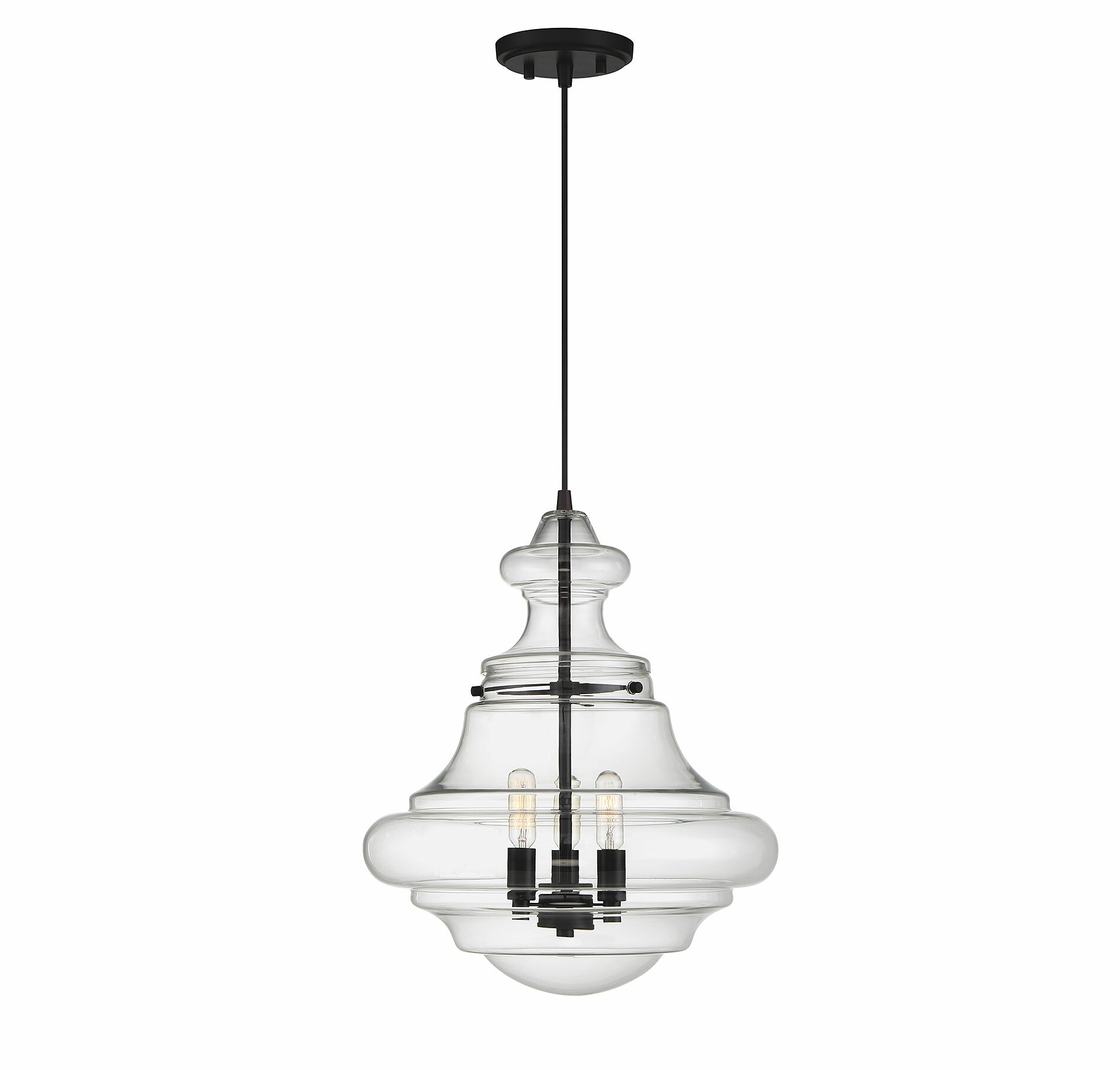 Edford 3 Light Single Schoolhouse Pendant