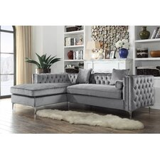 Velvet Sectional Sofas You Ll Love Wayfair