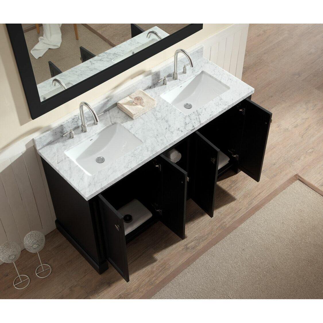 White Cultured Marble Integral Bathroom Vanity Top Mon 61 In X 22