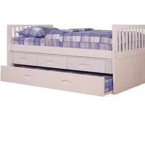 edmond 3 drawer underbed storage unit for youth bunk beds - Under Bed Storage Frame