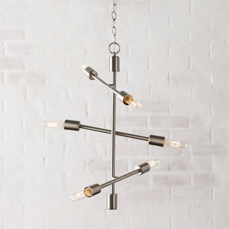 herzog 6light chandelier 6 bulb bathroom light fixture
