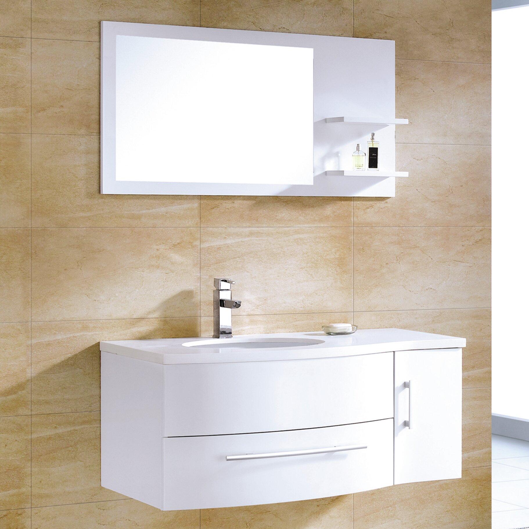 Adornus aden 43 single bathroom vanity set with mirror for Bathrooms r us reviews