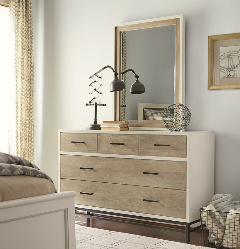 Myroom 5 Drawer Dresser With Mirror