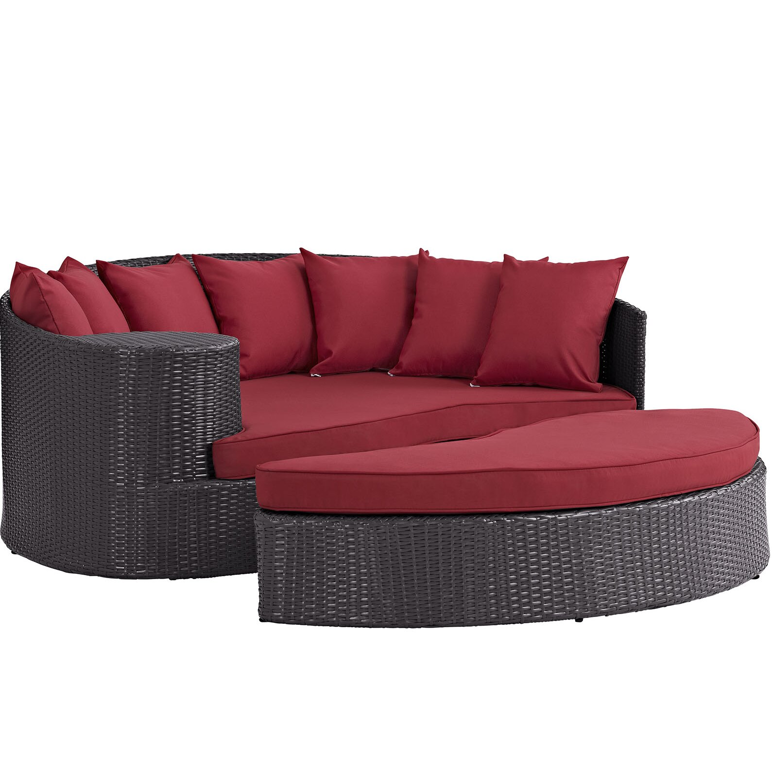 Modway Convene Outdoor Patio Daybed with Cushions