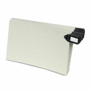 Pressboard Horizontal Metal End Tab Guides, 50/Box