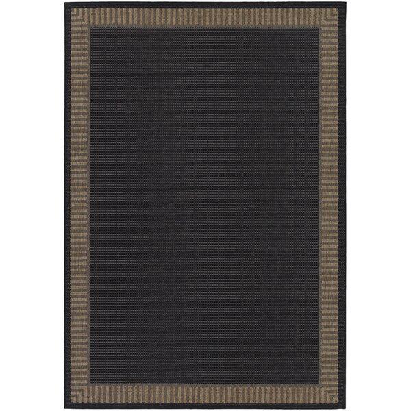 Charlton Home Westlund Black Wicker Stitch Indoor/Outdoor Rug U0026 Reviews |  Wayfair