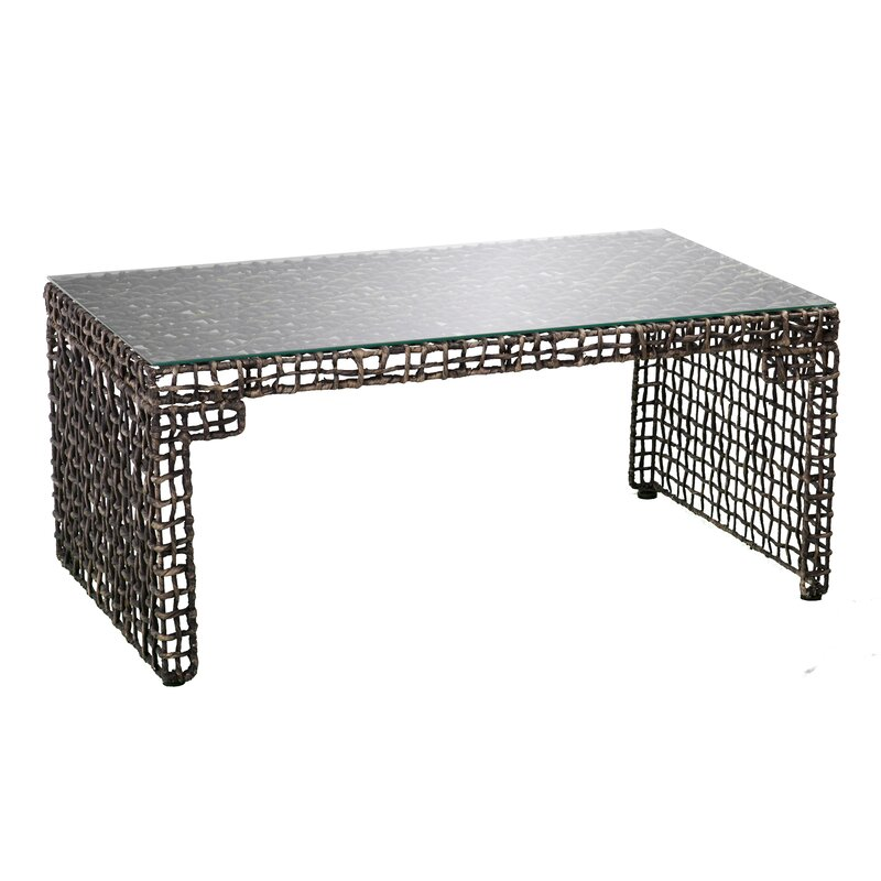 world menagerie akersville woven coffee table | wayfair