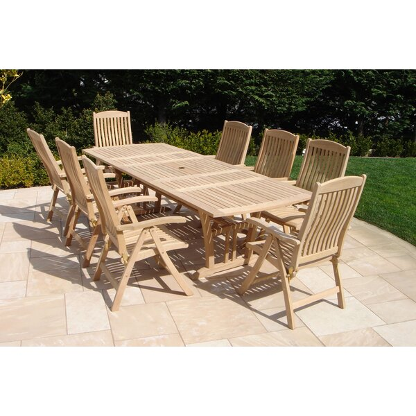 Royal Teak 9 Piece Dining Set U0026 Reviews | Wayfair