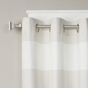 square single curtain rod u0026 hardware set
