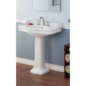 28 Pedestal Bathroom Sink With Overflow