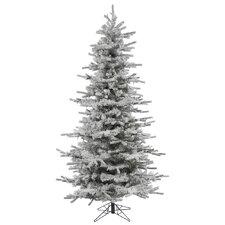 4.5' Flocked Slim Sierra Christmas Tree
