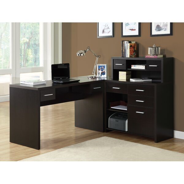 Brayden Studio Covey Home Office L-Shaped Computer Desk with Hutch &  Reviews | Wayfair - Brayden Studio Covey Home Office L-Shaped Computer Desk With Hutch