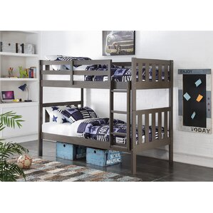 mission sturdy bunk bed | wayfair