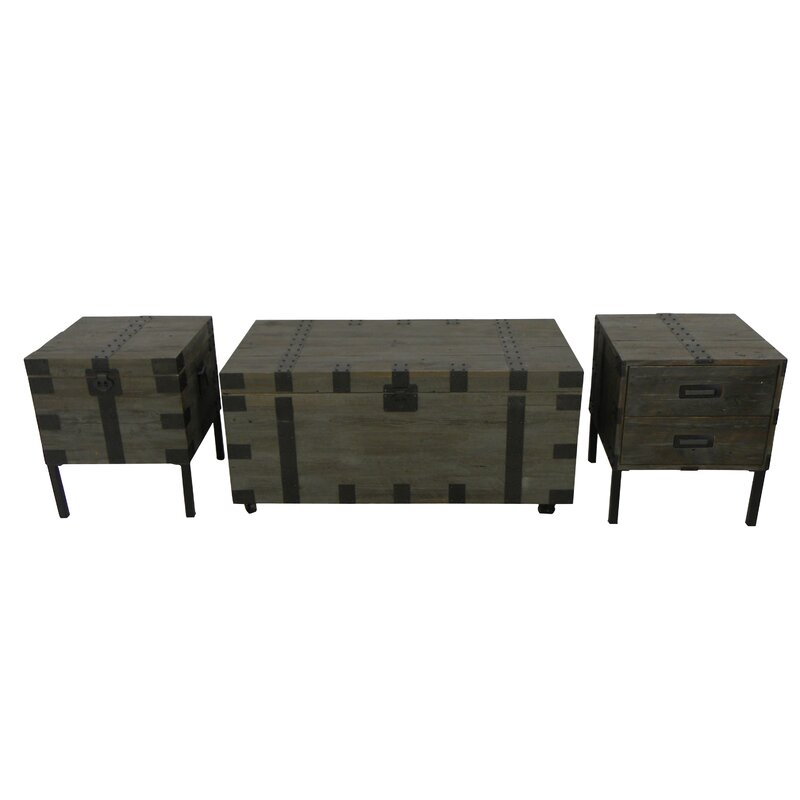 shop 12 trunk coffee table sets | wayfair