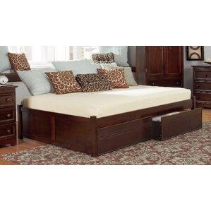 mackenzie storage platform bed - Wood King Bed Frame