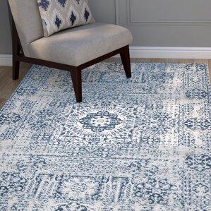 Nellie Ivory/Blue Area Rug