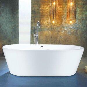 Barnfield 148cm x 80cm Freestanding Soaking Bathtub