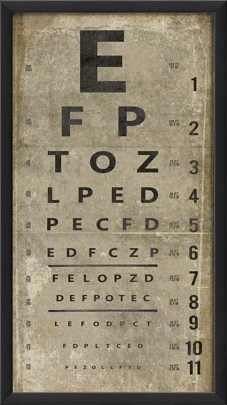 The Artwork Factory Eye Chart Framed Textual Art Amp Reviews