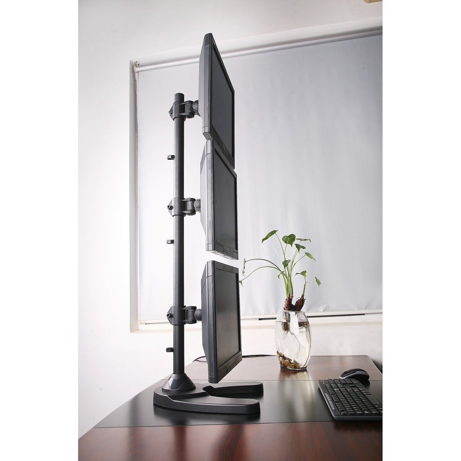 Vivo Triple Lcd Monitor Free Standing Vertical Height