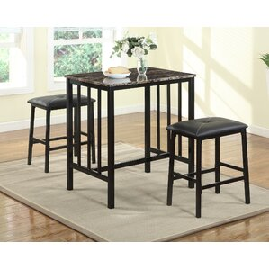 Noyes Counter Height 3 Piece Pub Table Set