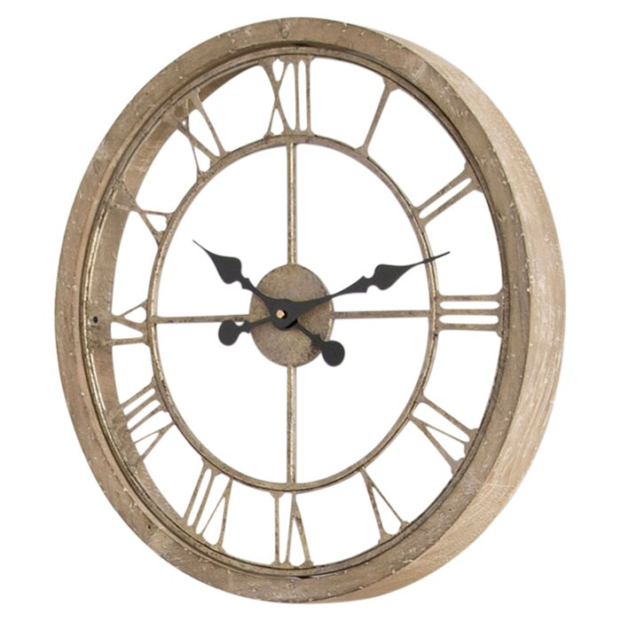 natural wood wall clock