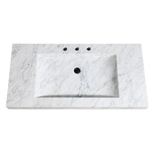 Natural Marble Stone Integrated 43 Single Bathroom Vanity Top