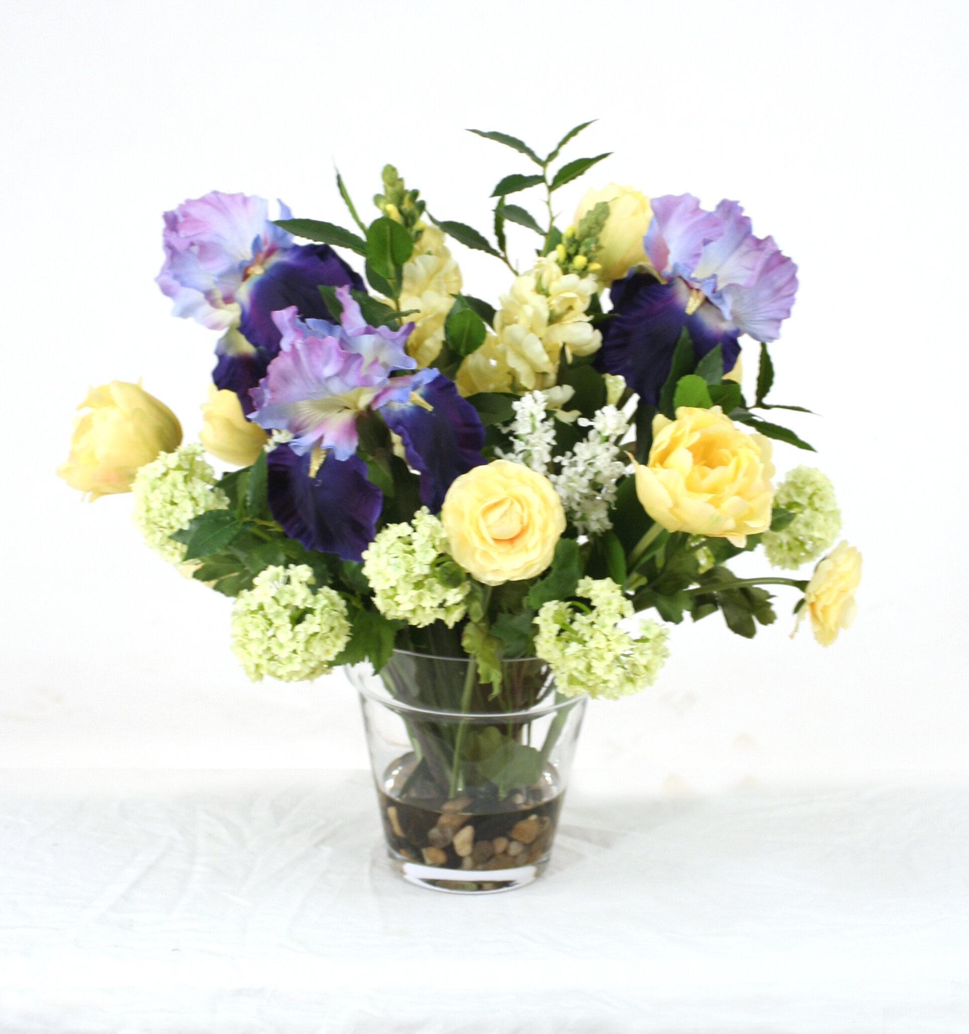 Distinctive Designs Waterlook Glass Flower Pot Vase | Wayfair