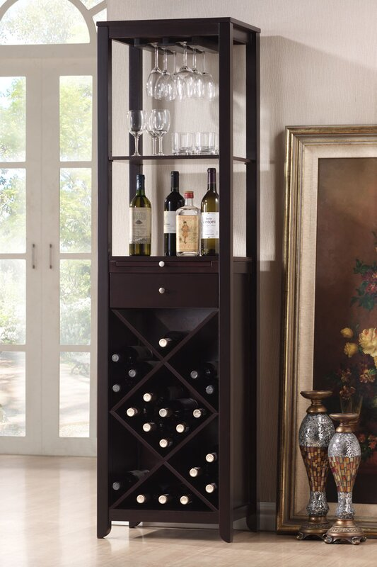 Trombley 28 Bottle Floor Wine Cabinet