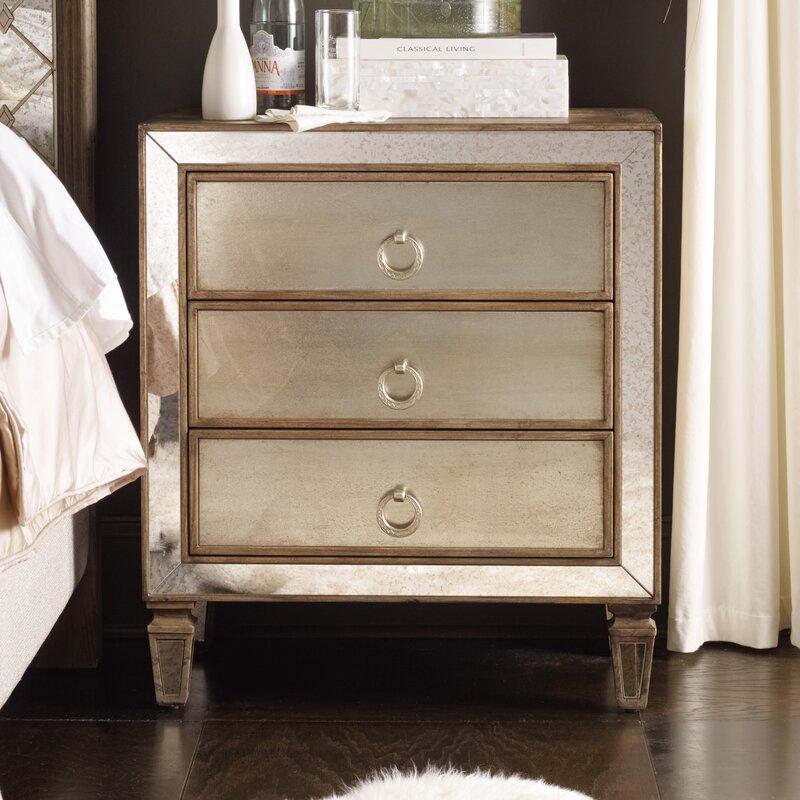 sanctuary 3 drawer nightstand