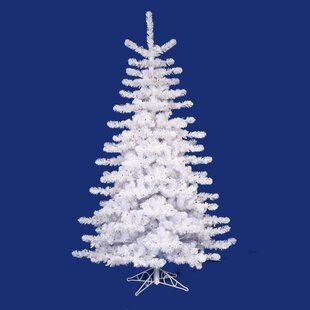 12 crystal white artificial christmas tree with multi light