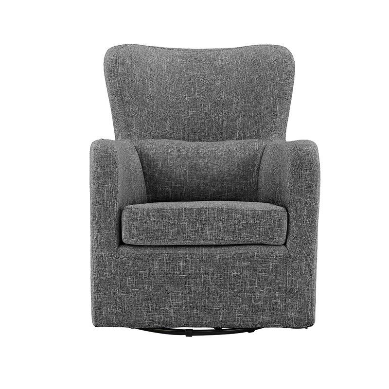 Bibbs Modern Linen Swivel Armchair