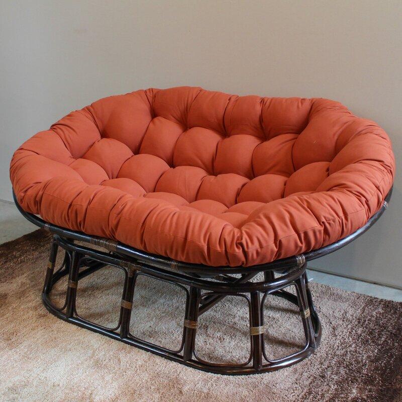 bay isle home bocanegra double papasan chair reviews. Black Bedroom Furniture Sets. Home Design Ideas