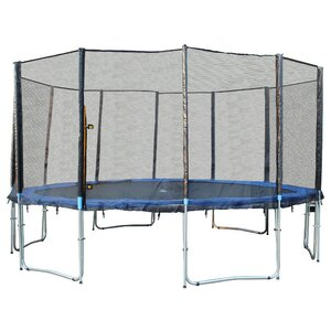 15' 6 Legs Trampoline with Enclosure Net
