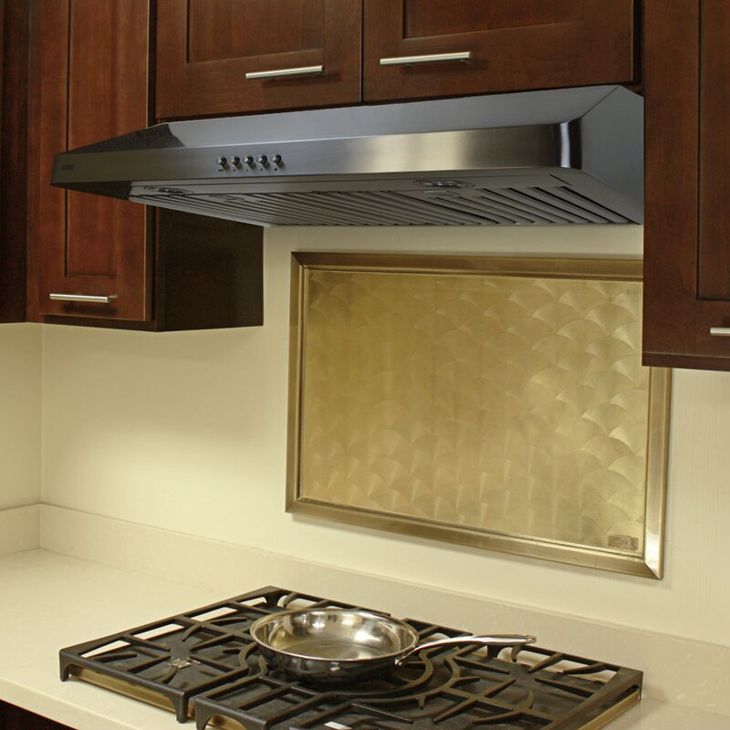 Excellent 36 400 Cfm Ducted Under Cabinet Range Hood Beutiful Home Inspiration Truamahrainfo