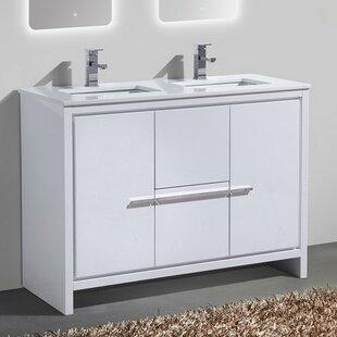48 inch vanity double sink. Save to Idea Board  Mercury Row Bosley 48 Double Sink Modern Bathroom Vanity Inch Vanities You ll Love Wayfair