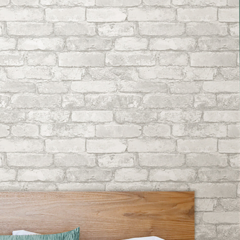 Williston Forge Wokingham Grey And White 18 X 205 Brick Peel And